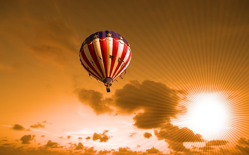 Balloon at sunset | by Heaven`s Gate (John)
