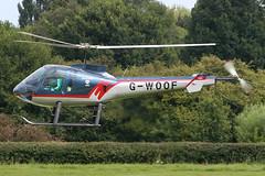 G-WOOF - 1998 build Enstrom 480, visiting Barton