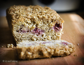 Oat, Pear, and Raspberry Loaf 6 | by Elissa @ 17 and Baking