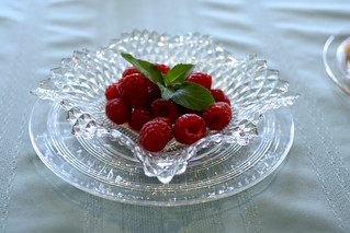 Mint And Orange Syrup Over Raspberries | by Indiana Public Media