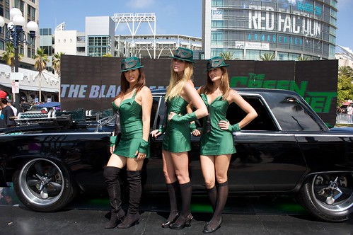 Green Hornet Booth Girls | by ewen and donabel