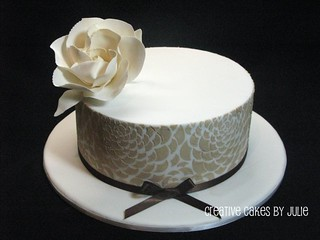 Stenciled Cake | by Creative Cakes by Julie