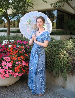Blue Rayon.front view with parasol | by vintage laura