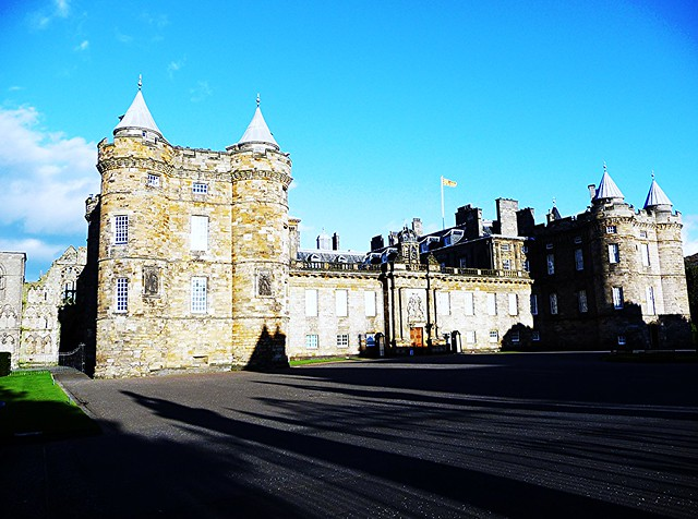 Long shadows at Palace of Holyroodhouse, Edinburgh.