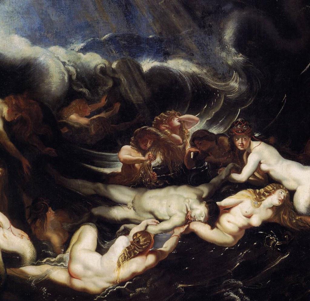 Hero and Leander - detalhe - Rubens