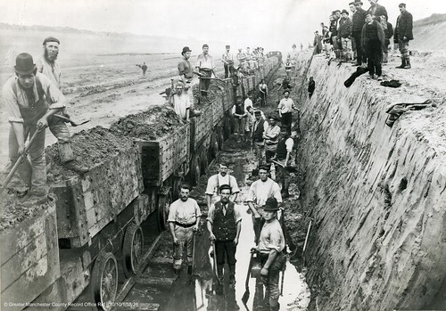 Construction of the Manchester Ship Canal. (GB124.B10/10/1/18/28).