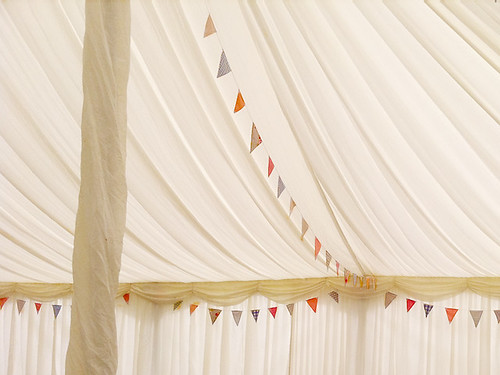 Bunting inside marquee | by county marquees