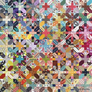 Japanese + and X Quilt | by goneaussiequilting
