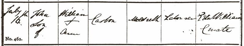 1843 John Casbon Bp Meld