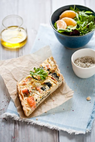 Swiss Chard & Salmon Quiche | by tartelette