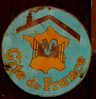 vintage Gîte de France enamel sign | by april-mo