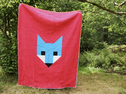 Fancy Fox quilt back