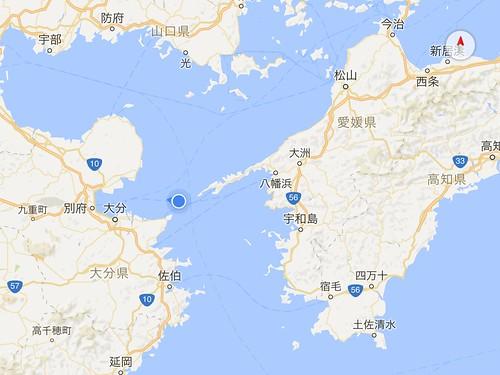 宇和島運輸フェリー航路(八幡浜→別府)