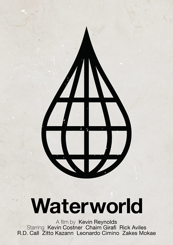 'Waterworld' pictogram movie poster | by Viktor Hertz