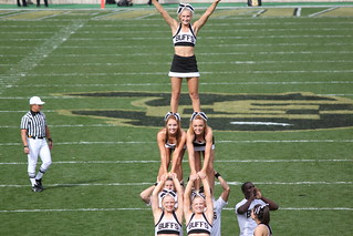 A pyramid of Colorado Buffaloes cheerleaders | by Hazboy