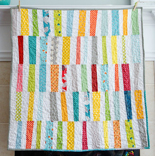 Scrappy Stripes Baby Quilt | by susan weinroth