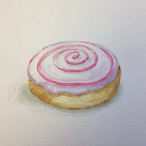 Donut 2, watercolor