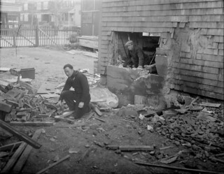 Malden explosion in garage. | by Boston Public Library