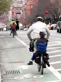 NYC Bicycle Commuters, Columbus Ave. @ 91st | by bicyclesonly