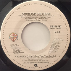 CHRISTPHER CROSS:ARTHUR'S THEME(BEST THAT YOU CAN DO)(LABEL SIDE-A)
