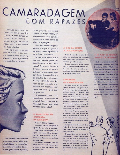 Menina e Moça, Nº 154, Abril 1961, Camaradagem com Rapazes