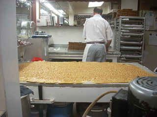 Peanut brittle being made at Littlejohn's | by LA Wad