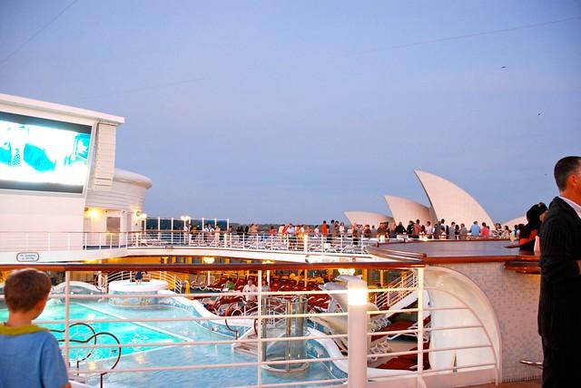 Sailing past the Sydney Opera House.
