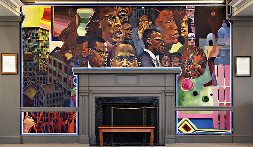 Malcolm x mural in cutter shabazz painted by florian jenk for Malcolm x mural