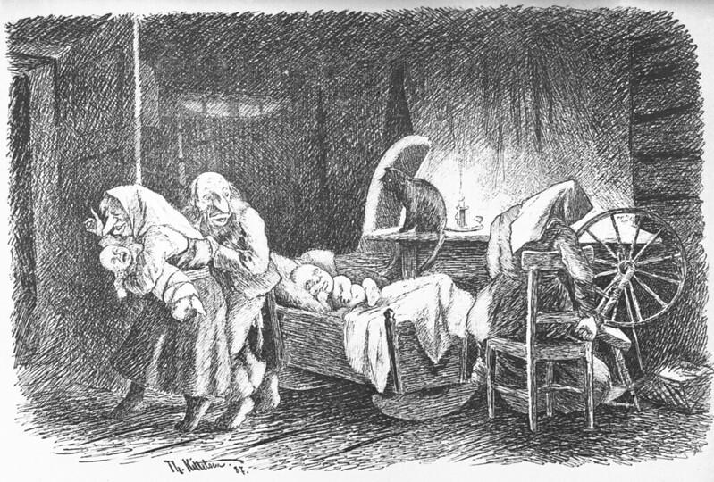 Theodor Kittelsen - Trading Children, 1887