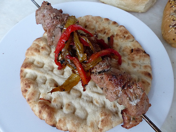 home made souvlaki