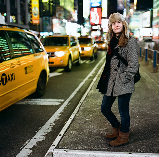 Lauren in Times Square | by mat4226