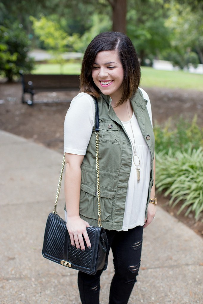 Head to Toe Chic-military vest-@akeeleywhite