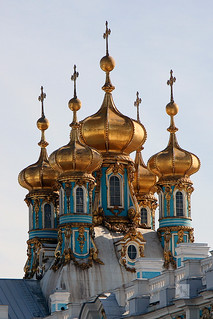 Onion domes of Catherine's Palace, Pushkin, St Petersburg, Russia | by Mikey Stephens