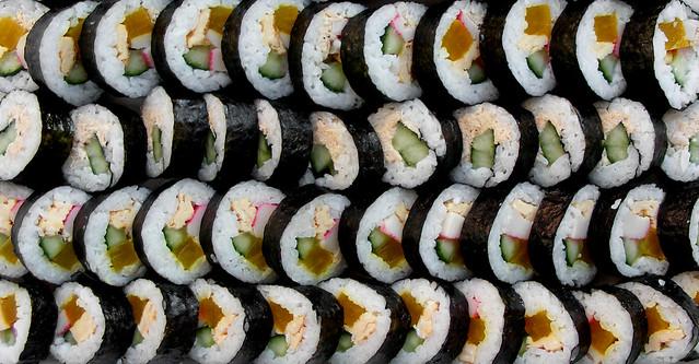 Koreaanse sushi (gimbap)