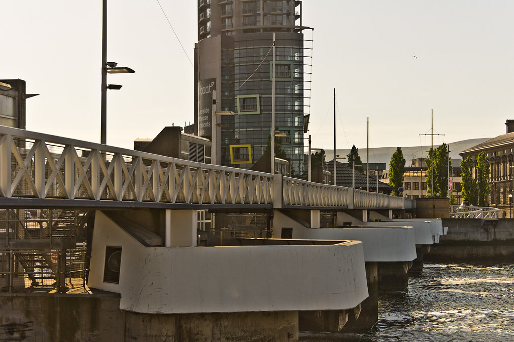 The Lagan Weir, completed in 1994, at a cost of £14m