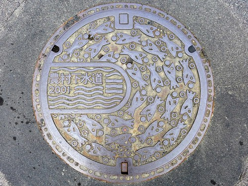 Hiroshima city Hiroshima pref, manhole cover 8 (広島県広島市のマンホール8)