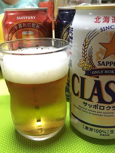 つよいこグラスがお父さん用のビールグラスになりした