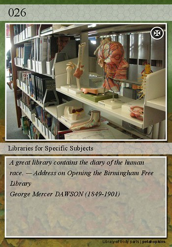 026 - Libraries for Specific Subjects | by petahopkins