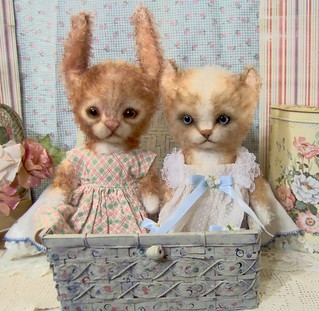 Sweet Whimsical style Waffles Bunny&Taffy kitty cat | by S.ReetzBears
