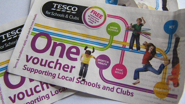 Tesco Schools and Clubs vouchers 2011