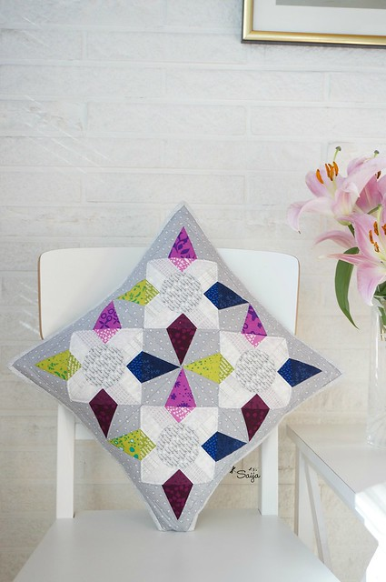 Jeweled kaleidoscope quilt