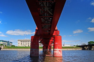 red bridge over the schizophrenic river | by It'sGreg