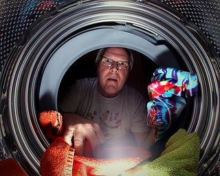 """Clothes come out cleaner, brighter!"" (and women say men can't do laundry...) 