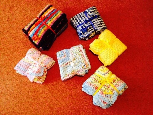 6 Sunshine Blankets from Bettina in Switzerland.