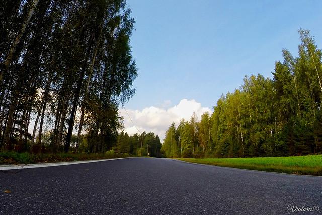 Road to Lappeenranta. Finland