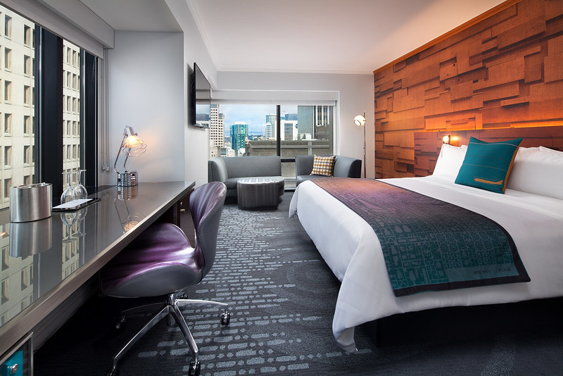Corner guest room at the W Seattle