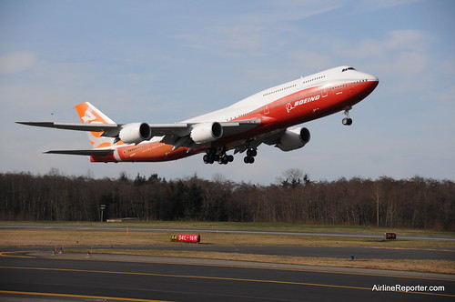 Boeing 747-8 Intercontinental First Flight | by AirlineReporter.com