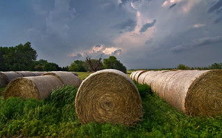 Storm over the Hay Bales | by Matt Grans Photography