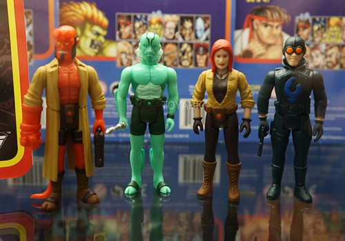 Hellboy Reaction Figures From Super7 Seen New York Comic Con