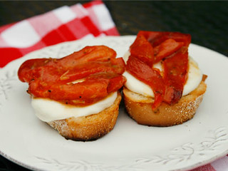 marinated roasted red pepper open face sandwiches | by Sarah :: Sarah's Cucina Bella